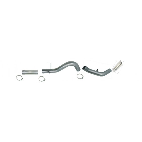 "DPF Back Single Exhaust | 5"" Aluminized"