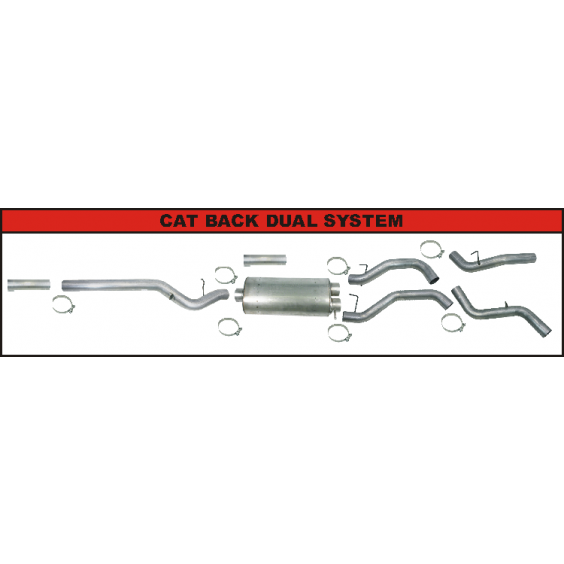 CAT Back Exhaust System | Dual
