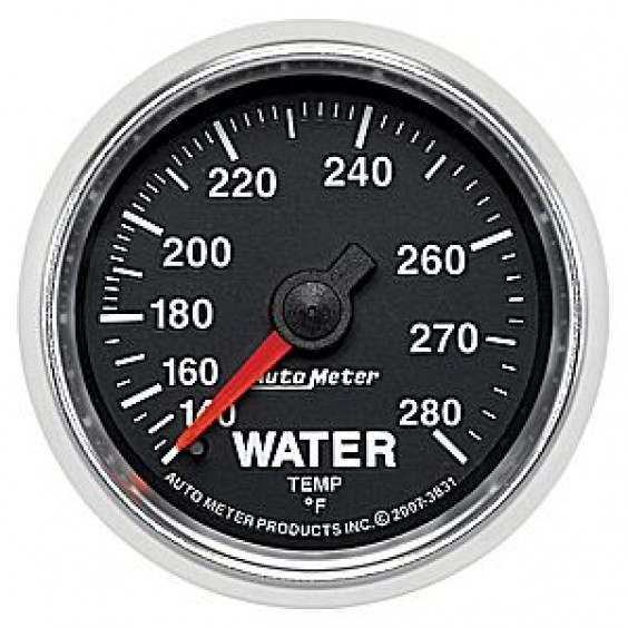 Autometer GS Series 140-280° Water Temperature Gauge