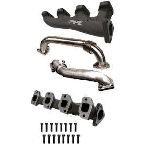 2001-2004 High Flow Exhaust Manifold With Up-Pipe Fed LB7 D-Pipe