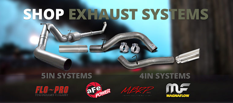 Shop 4in/5in Exhaust!