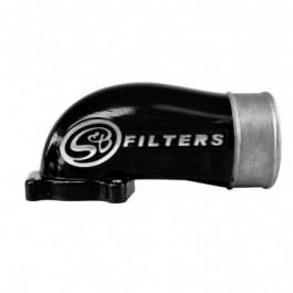 S&B Cast Intake Elbow w/ Intercooler Tube Black   03-04 Ford F250/F350