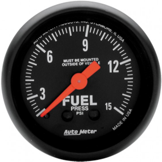 Autometer Z-Series 0-15psi Fuel Pressure Gauge.
