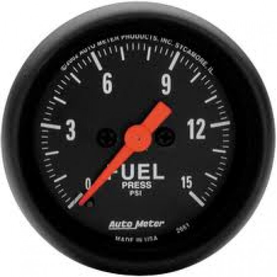 Autometer Z-Series 0-15psi Fuel Pressure Gauge.