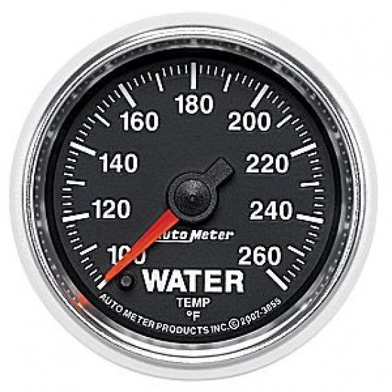 Autometer GS Series 100-260° Water Temperature Gauge
