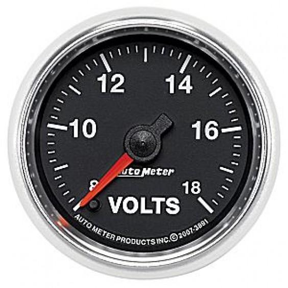 Autometer GS Series 8-18 Voltmeter Gauge