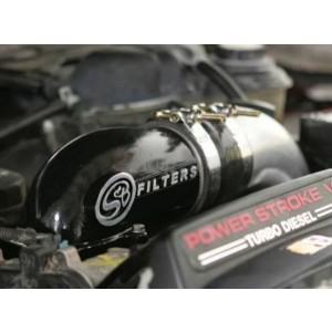 S&B Cast Intake Elbow w/ Intercooler Tube Black   05-07 Ford F250/F350