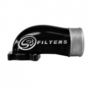 S&B Cast Intake Elbow w/ Intercooler Tube Black | 03-04 Ford F250/F350