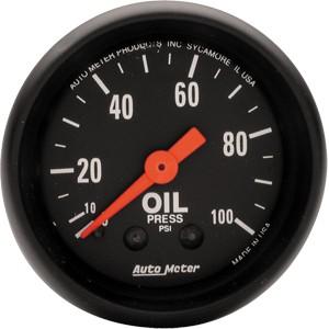 Autometer Z-Series 0-100psi Oil Pressure Gauge