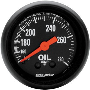 Autometer Z-Series 140-280° Oil Temperature Gauge