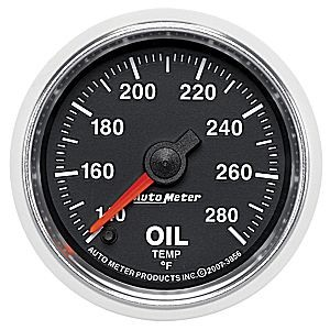 Autometer GS Series 140-280° Oil Temperature Gauge